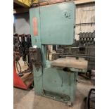 PMC vertical band saw, with spot welder, model - 2600, serial number - 26-131-62