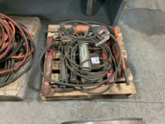 assortment of hydraulic hand pumps & misc.