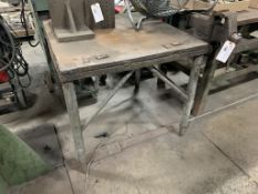 """weld table with vise, 36"""" x 36"""" x 33"""""""