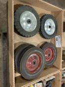 """solid wheels, 8"""" diameter"""