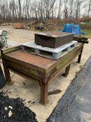 Steel weld table with steel block
