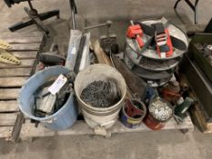 assortment jacks, fasteners, vices & misc.