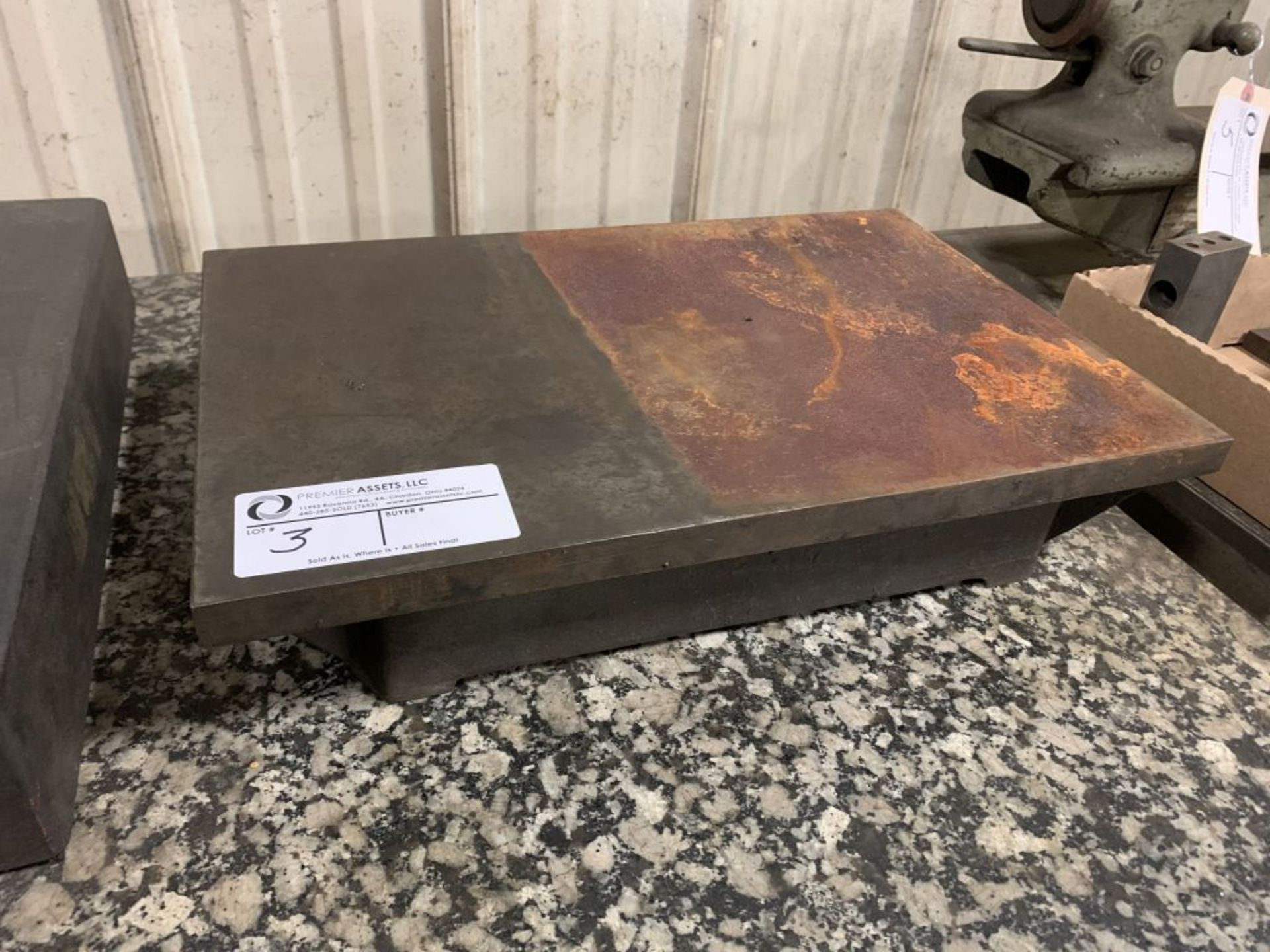 """surface plate, 18"""" x 12"""" x 4"""""""