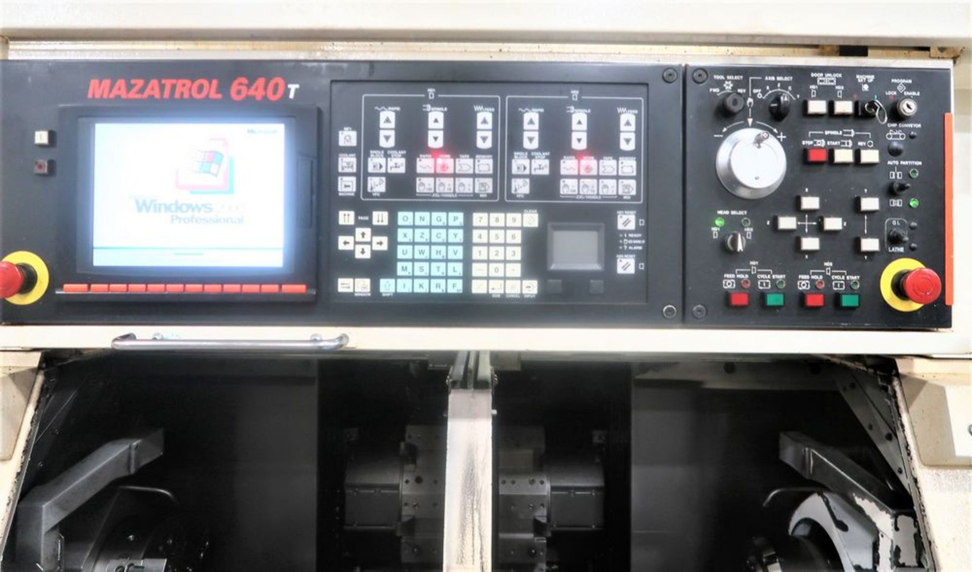 Lot 9 - Mazak Dual Turn 20 Twin Spindle CNC Turning Center Lathe, S/N 261818, New 2015