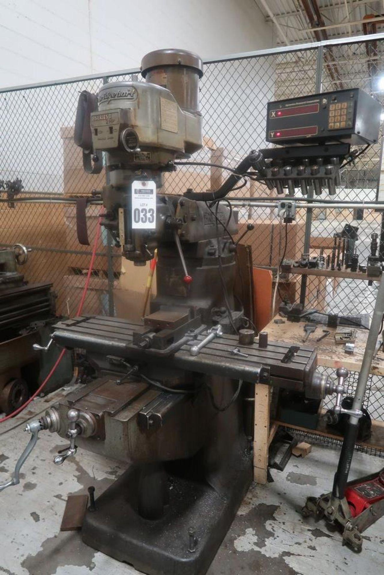 Lot 33 - Bridgeport Ram Type Vertical Mill, 2 HP, S/N 223866