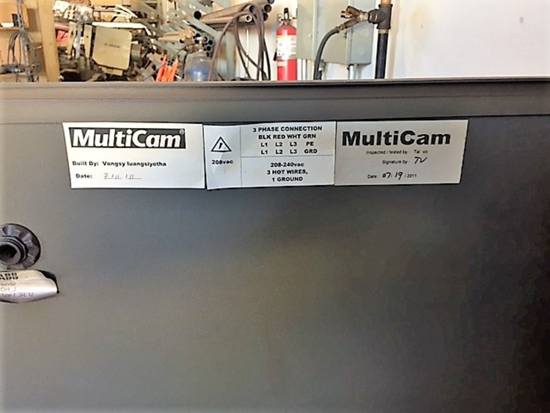 Lot 38A - MultiCam 3204-P Series High Definition Plasma Cutter, S/N 3-204-P08431, New 2011