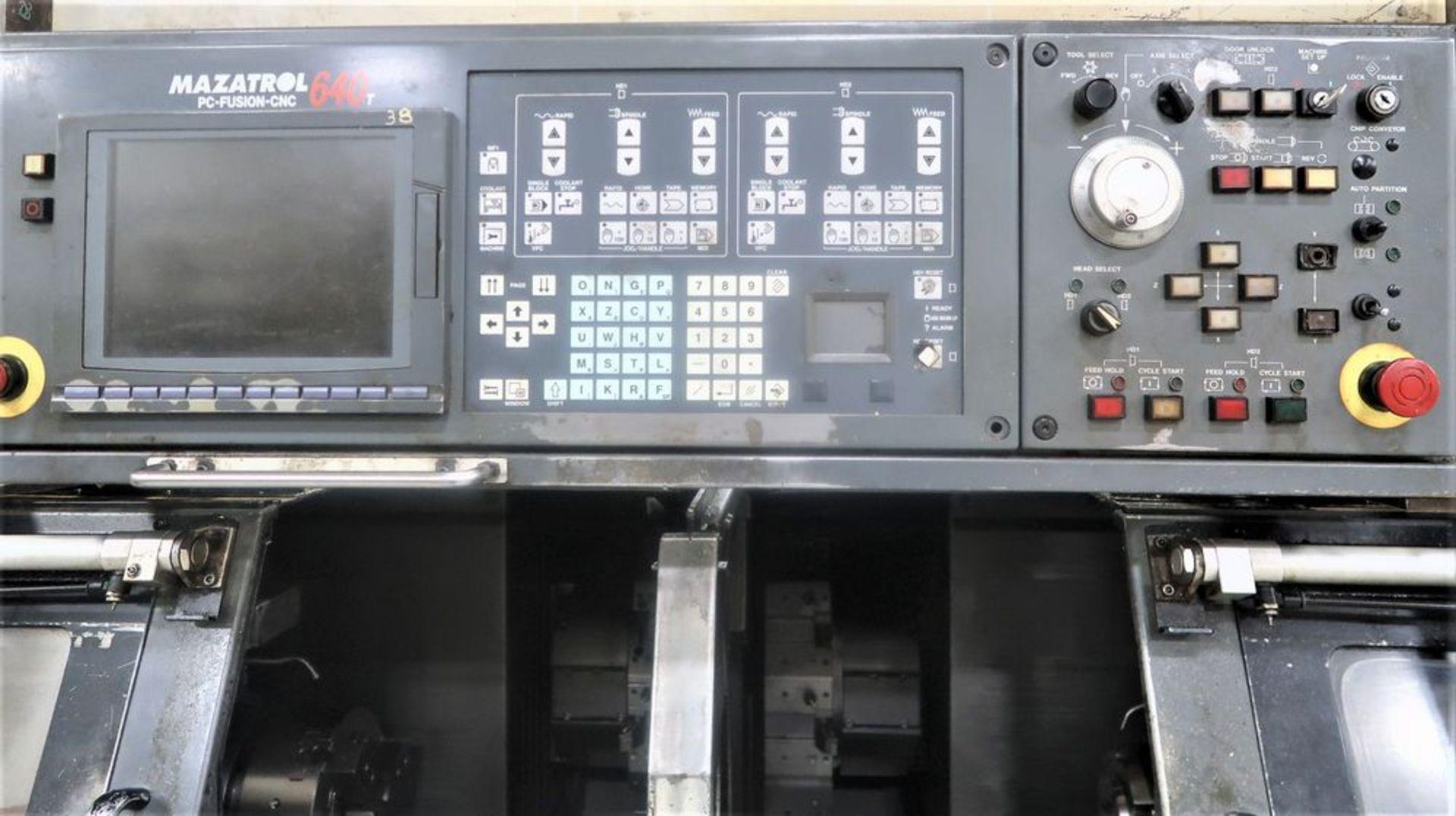 Mazak Dual Turn 25 Twin Spindle CNC Turning Center lathe, S/N 150888 - Image 9 of 13