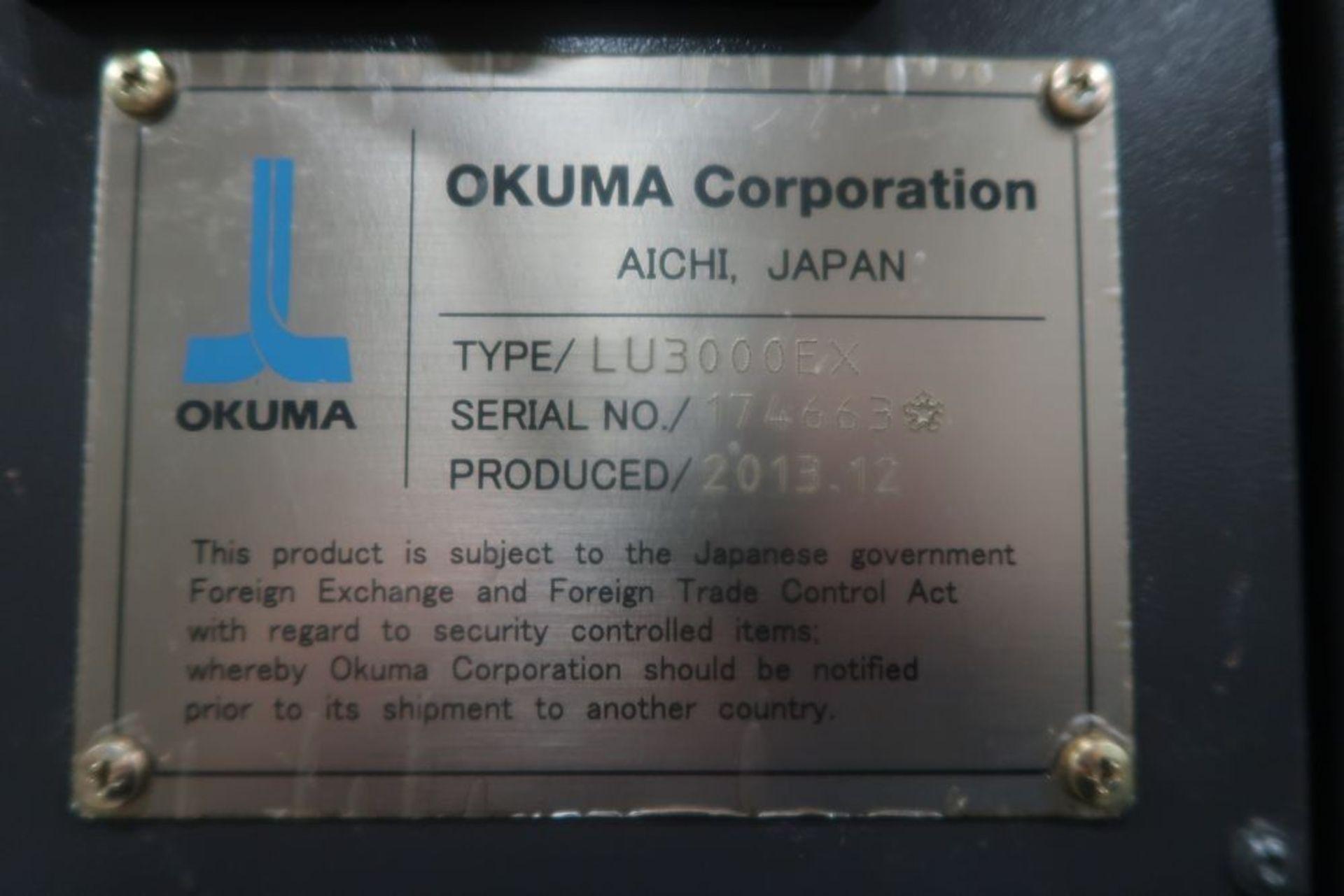 Lot 10 - Okuma LU-3000EX-2SC-600 Simulturn 4-Axis CNC Turning Center Lathe, S/N 174663, New 2013