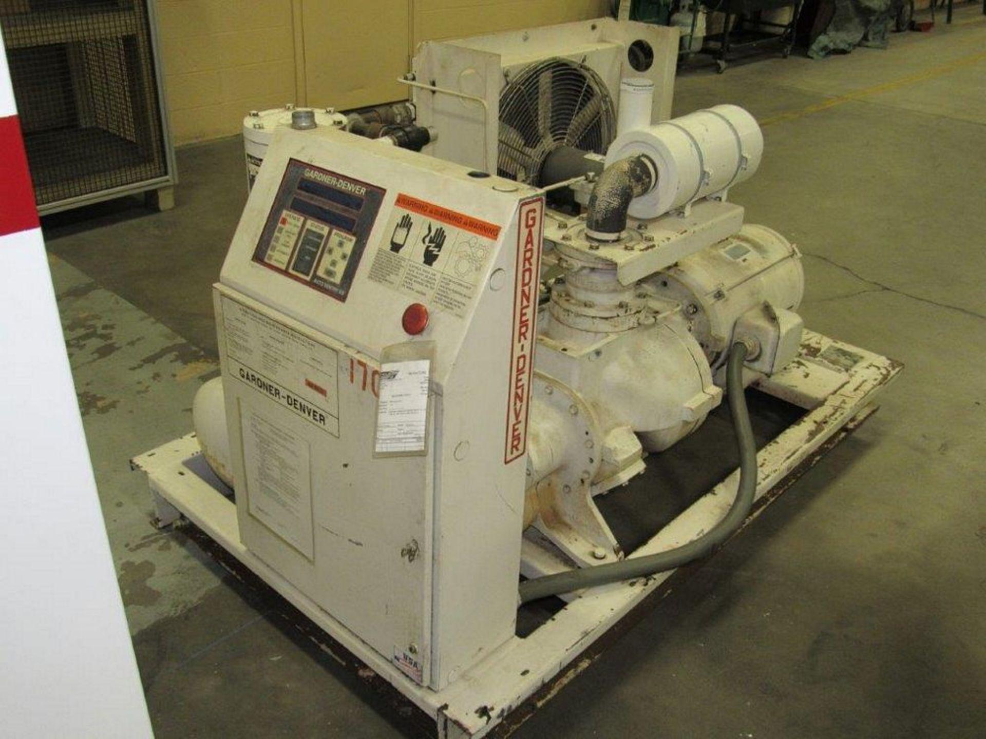 50 HP Gardner Denver Model ECHCJG Screw Type Air Compressor, Air Cooled