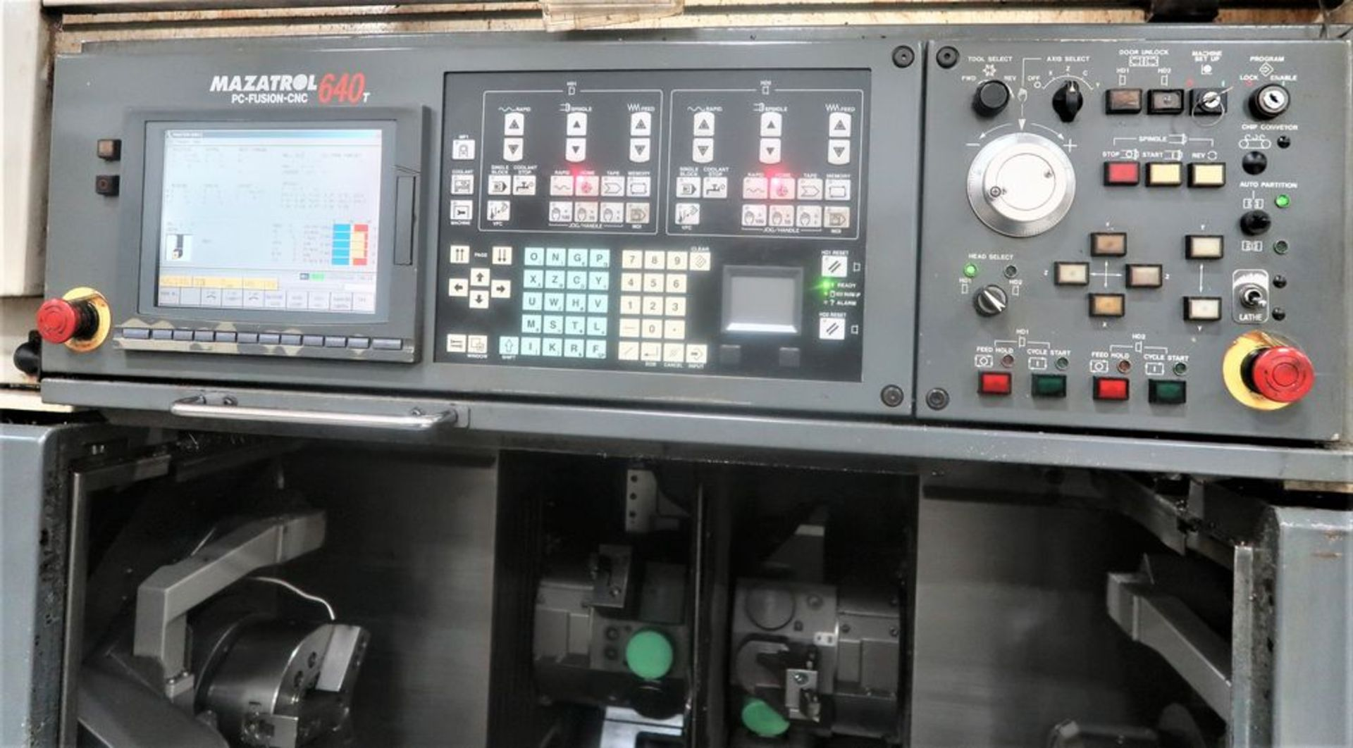 Lot 34 - Mazak Multiplex 6200 Twin Spindle CNC Turning Center Lathe, S/N 168461