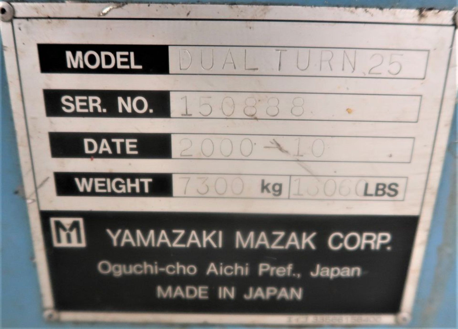 Mazak Dual Turn 25 Twin Spindle CNC Turning Center lathe, S/N 150888 - Image 10 of 13