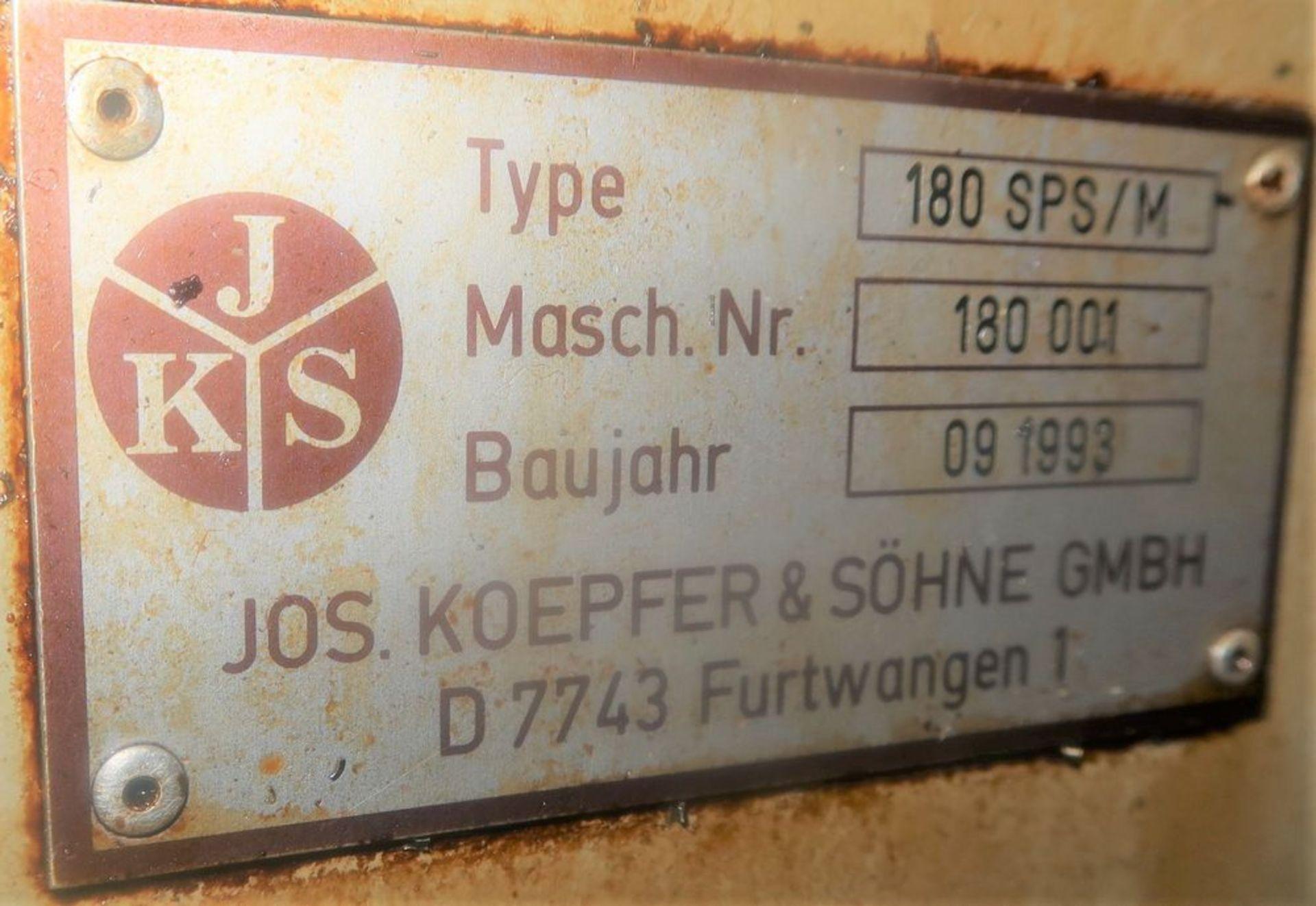 Koepfer 180 SPS/M Gear Hobber, S/N 180001 - Image 8 of 9