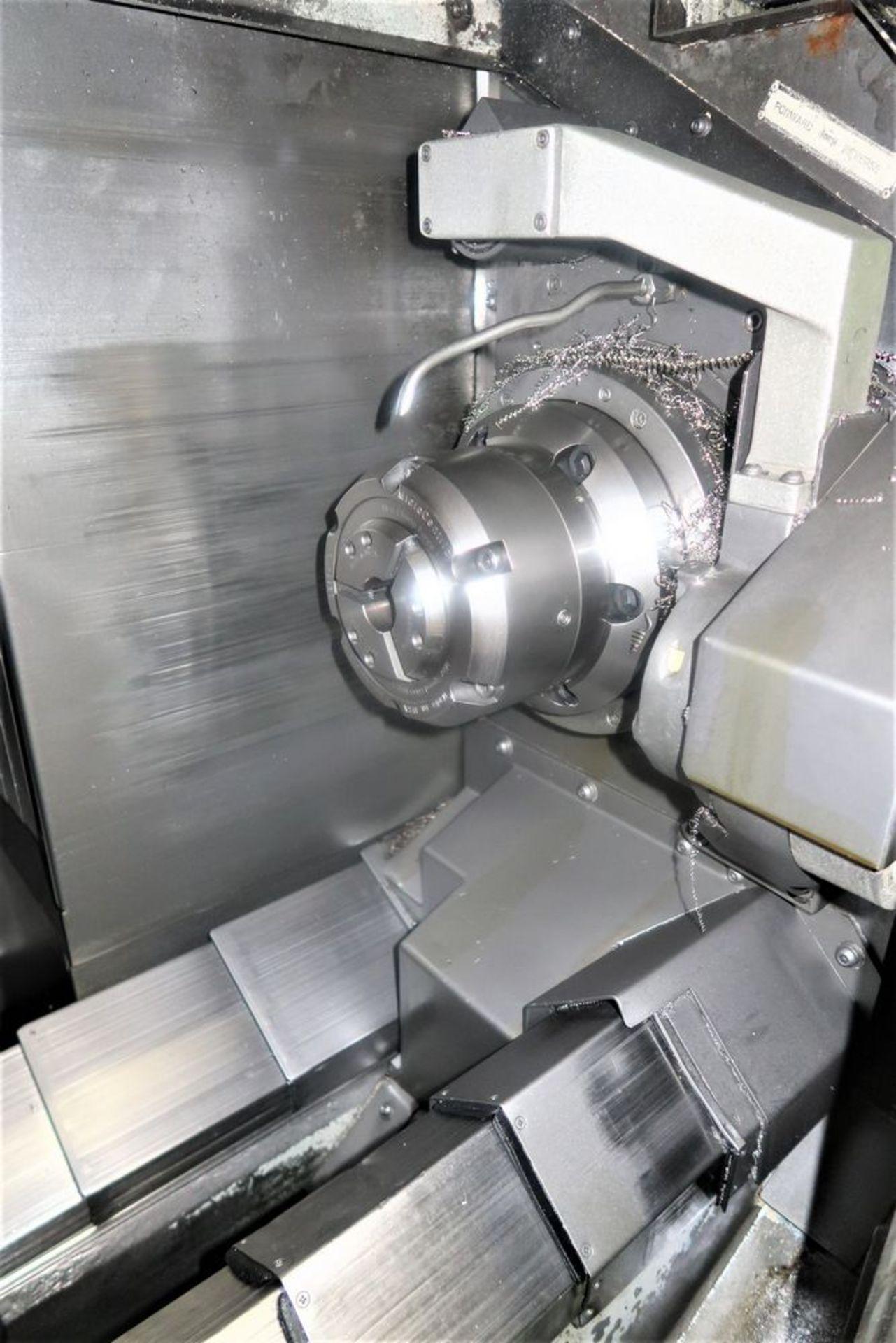 Mazak Dual Turn 25 Twin Spindle CNC Turning Center lathe, S/N 150888 - Image 7 of 13