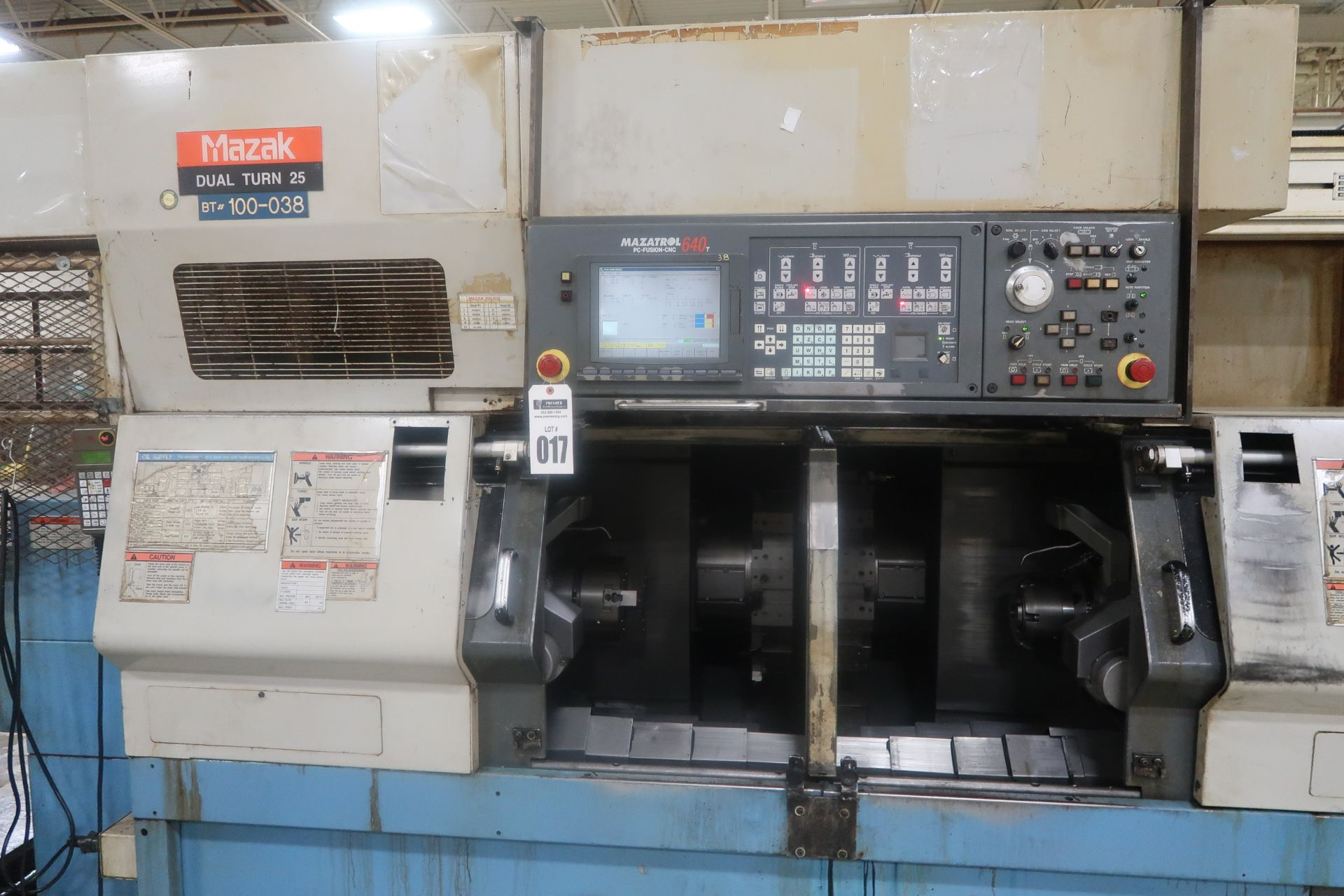 Mazak Dual Turn 25 Twin Spindle CNC Turning Center lathe, S/N 150888
