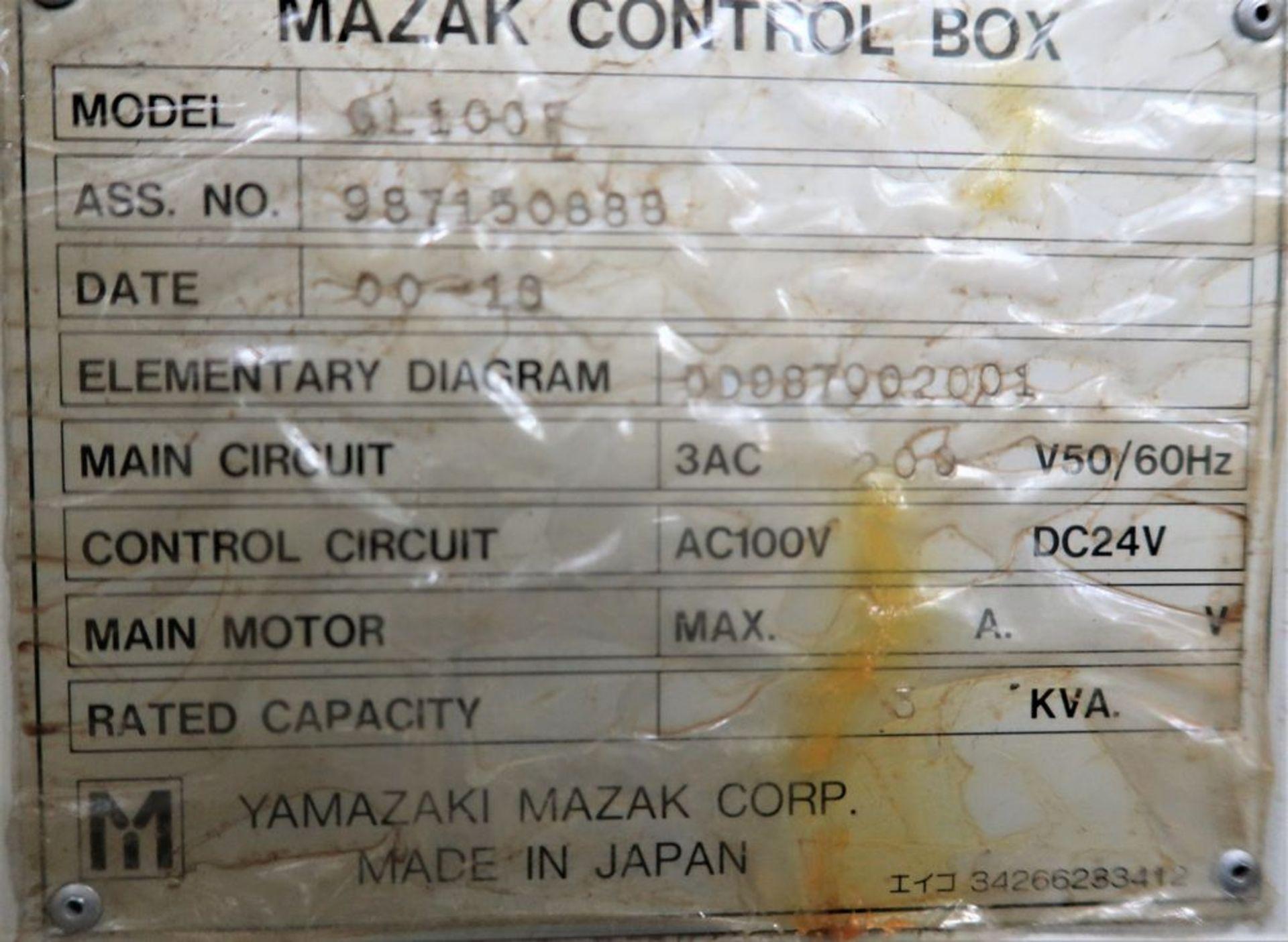 Mazak Dual Turn 25 Twin Spindle CNC Turning Center lathe, S/N 150888 - Image 12 of 13