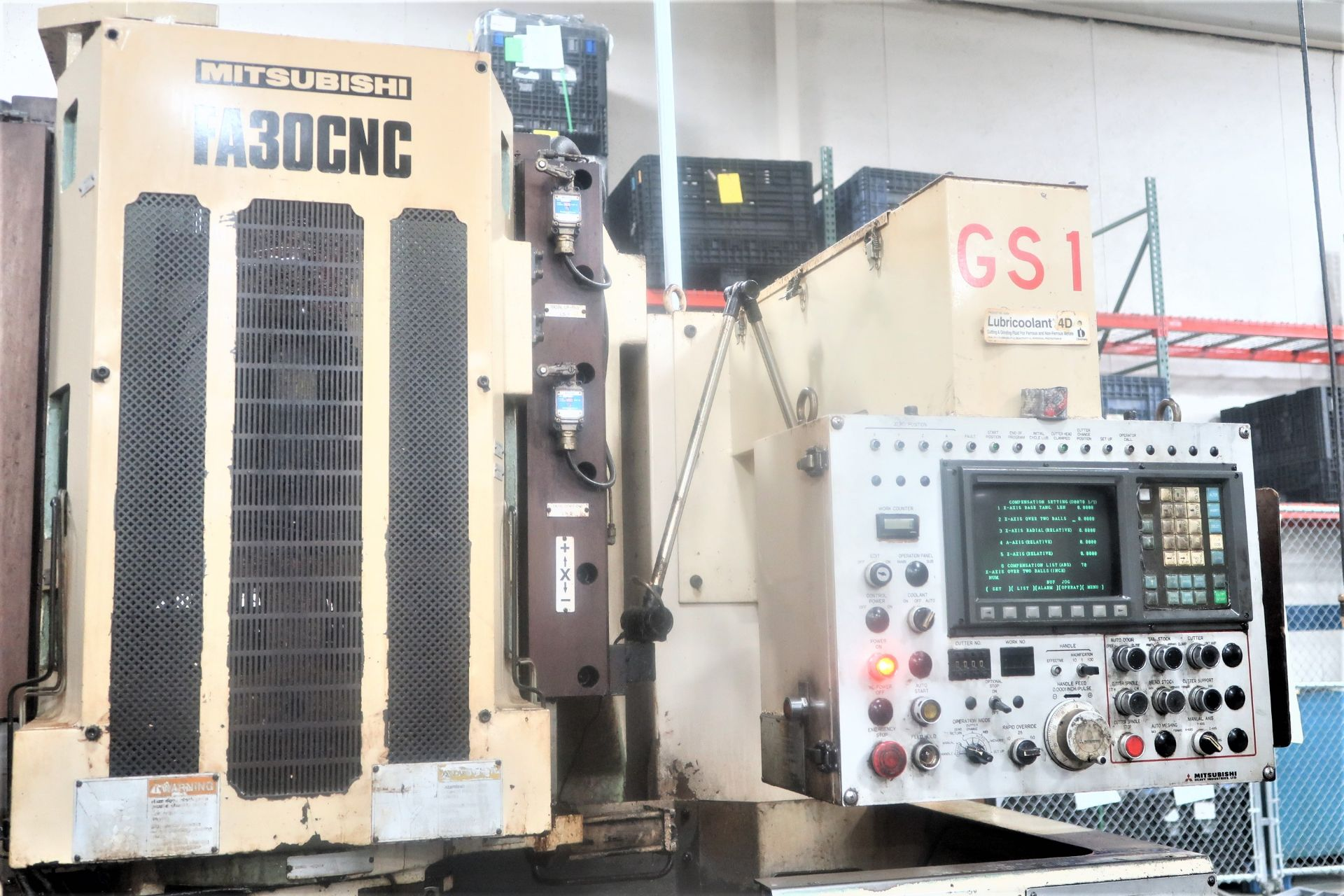 Mitsubishi Model FA30CNC 4-Axis CNC Gear Shaver s/n 61349C4 - Image 4 of 10
