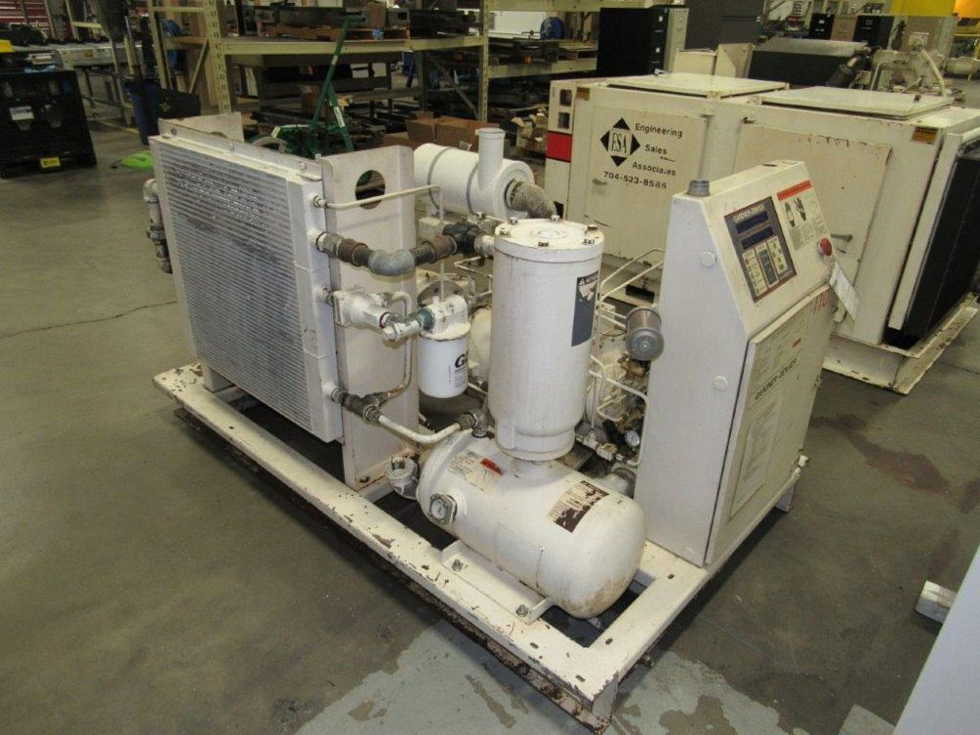 50 HP Gardner Denver Model ECHCJG Screw Type Air Compressor, Air Cooled - Image 5 of 5