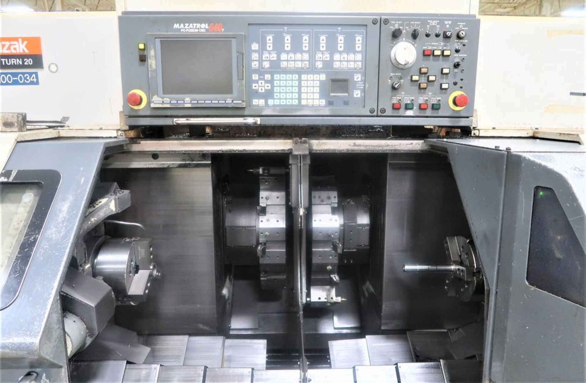Lot 25 - Mazak Dual Turn 20 Twin Spindle CNC Turning Center Lathe, S/N 141828