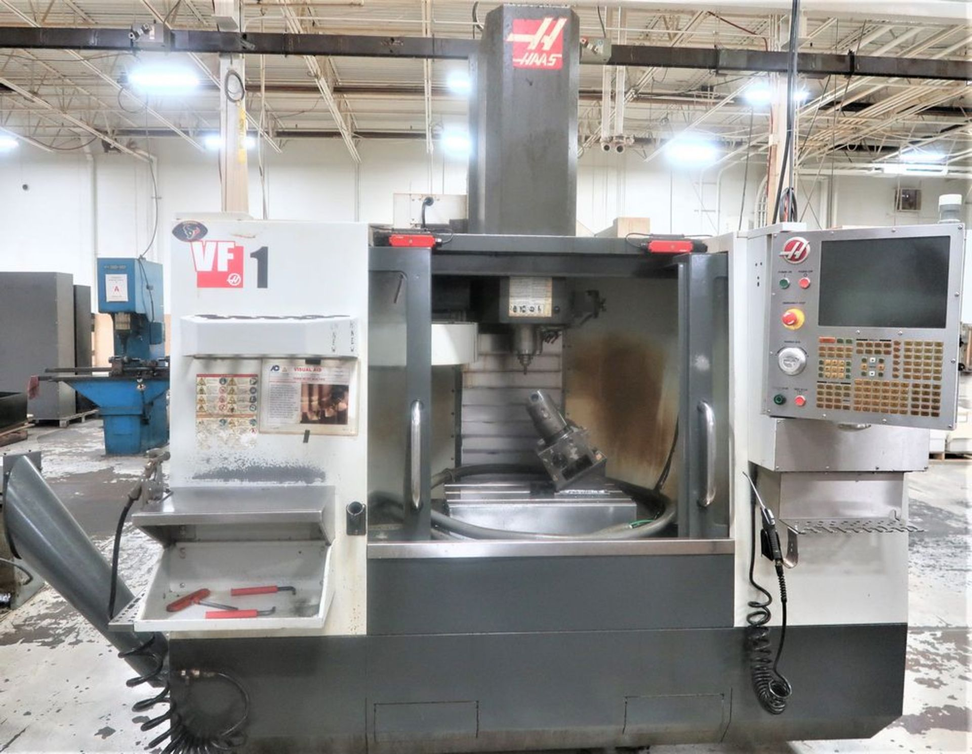 Lot 22 - Haas VF1 4-Axis CNC Vertical Machining Center, S/N 1115051, New 2014