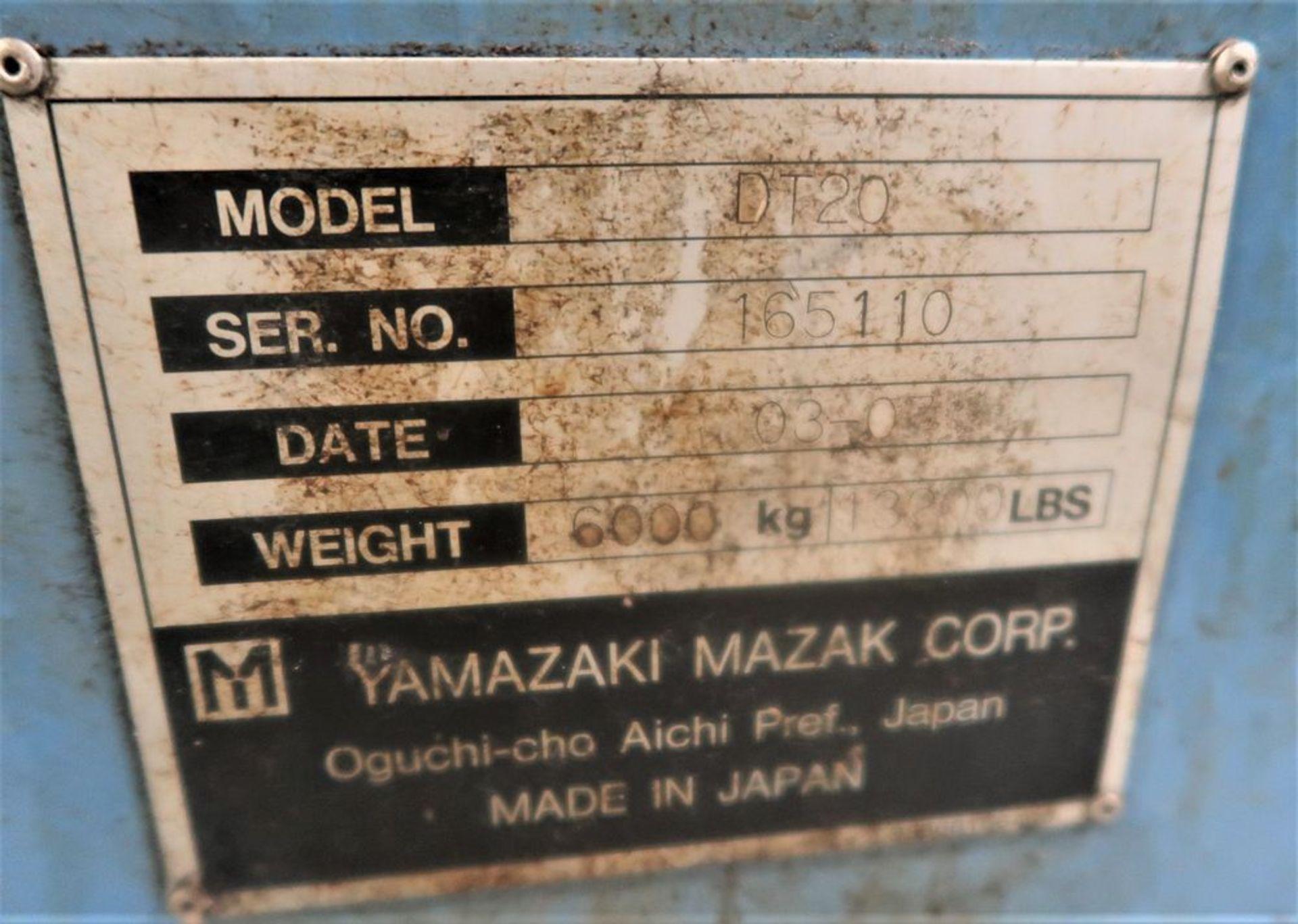 Lot 39 - Mazak Dual Turn 20 Twin Spindle CNC Turning Center Lathe, S/N 165110