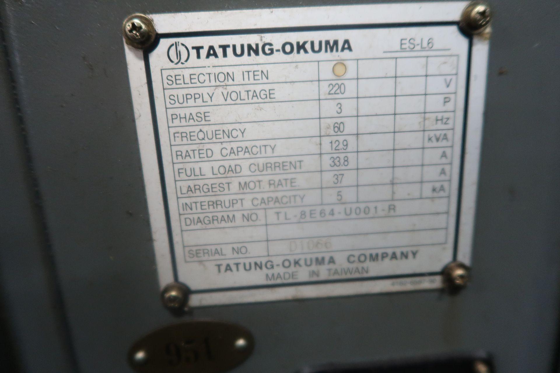Lot 16B - Okuma Heritage ES-L6II CNC 2-Axis Turning Center Lathe, S/N D1066, New 2006