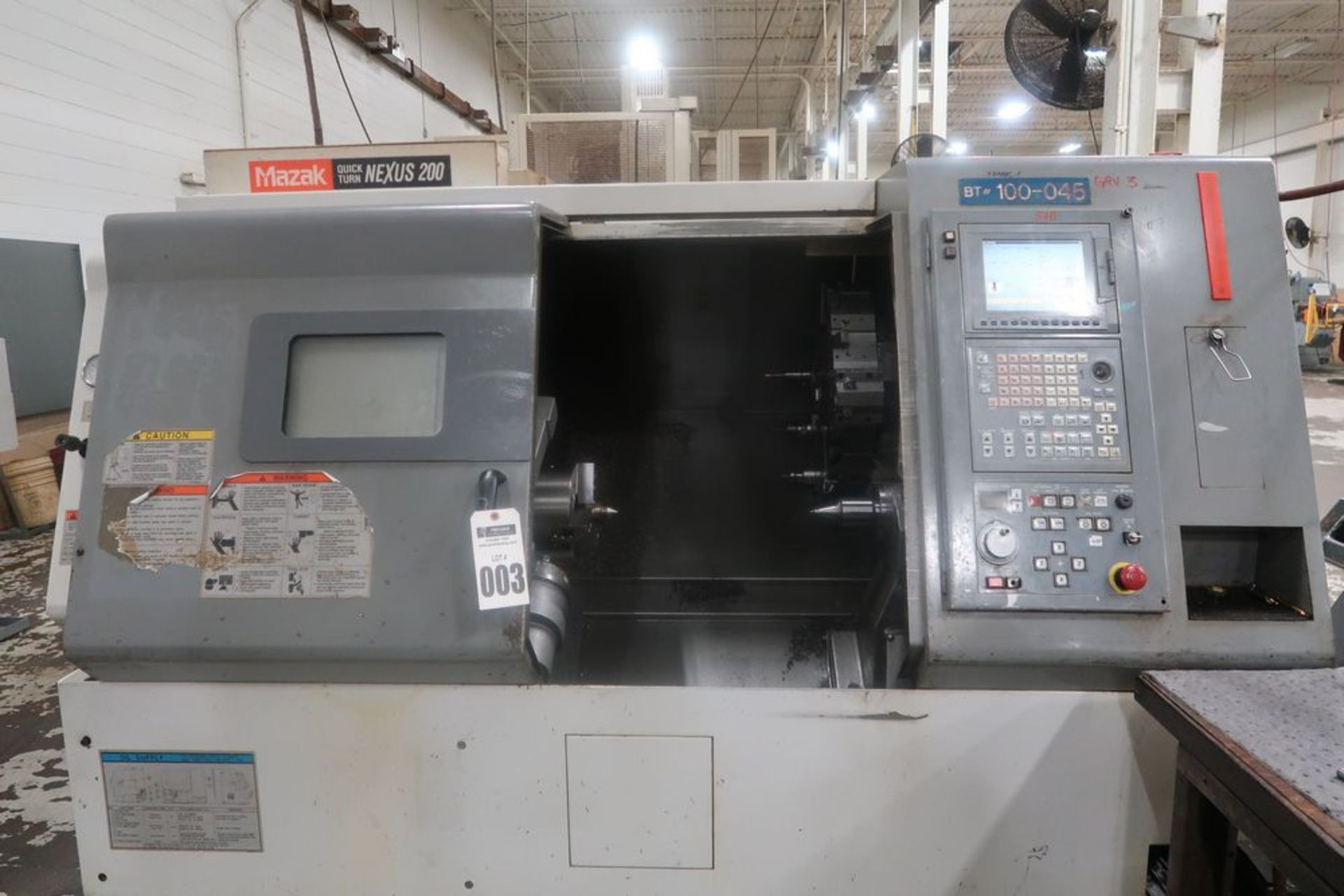 Lot 3 - Mazak Quick Turn Nexus 200 CNC 2-Axis Turning Center Lathe, S/n 162574