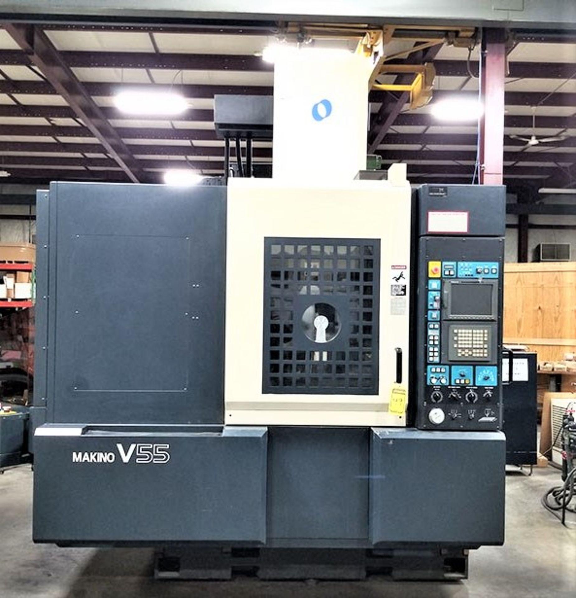 Lot 52 - Makino V55 Precision 3-Axis CNC Vertical Machining Center, S/N 864, New 2000