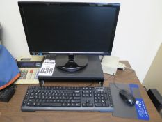 PC Computer with Monitor, keyboard, mouse, desk, chair, and Filing Cabinet