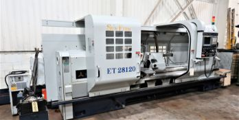 "28""x120"" Sunfirm 2-Axis CNC Flat Bed Turning Center Lathe, S/N 21232, New 2012"