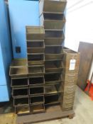 Pallet with Metal Tote bins