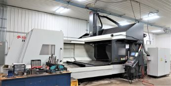 SOLD SOLD SOLD Feeler Model FV-3224 Double Column CNC Bridge Mill, New 2015