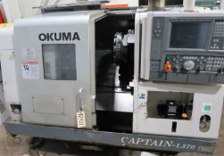 Okuma Captain L370 2-Axis CNC Turning Center Lathe, S/N 116573, New 2005