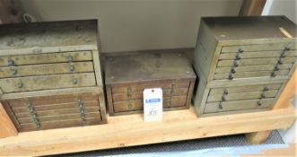 (5) Cabinets of Drill Bits