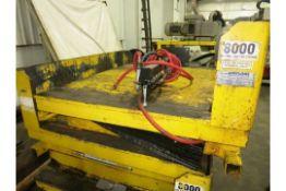 8,000 LB Airfloat Pneumatic Tilt Table, S/N 964, New 2000