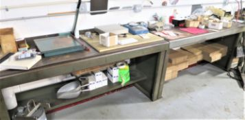 (3) Tables with Shipping Supplies