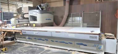5'x12' Busellato Model Jet4 WF Xl CNC Fixed Table Moving Gantry Router, S/N 5088, New 2004
