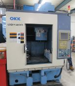 OKK Model DGM 400 3-Axis CNC High Speed Graphite Machining Center, S/N 134, New 2001