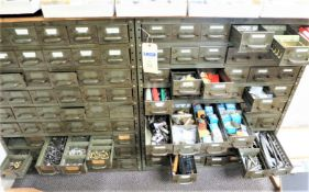 Cubby Bin Cabinets with Contents