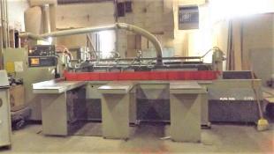 SCMI Model ALFA 32D Panel Saw, with XILIA CNC Controls, (3) 19-1/2 inch x 60 inch Air Lift Tables,