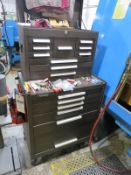 Kennedy Tool Box with Parallel sets, Misc. Cutting Tools, Gage and hand tools