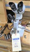 "Microscope and 12"" Mitutoyo Micrometer"