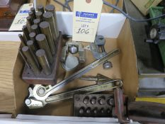Rigid Tube Bender, pipe cutter, plug gages, and misc. tools