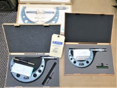 (3) Mitutoyo Micrometers