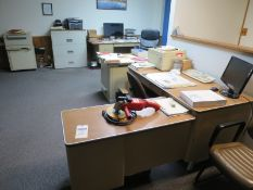 Office Furniture including Desks, Chairs, File Cabinets, Display Case