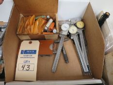 Lot of Mitutoyo Calipers and Measuring Wires