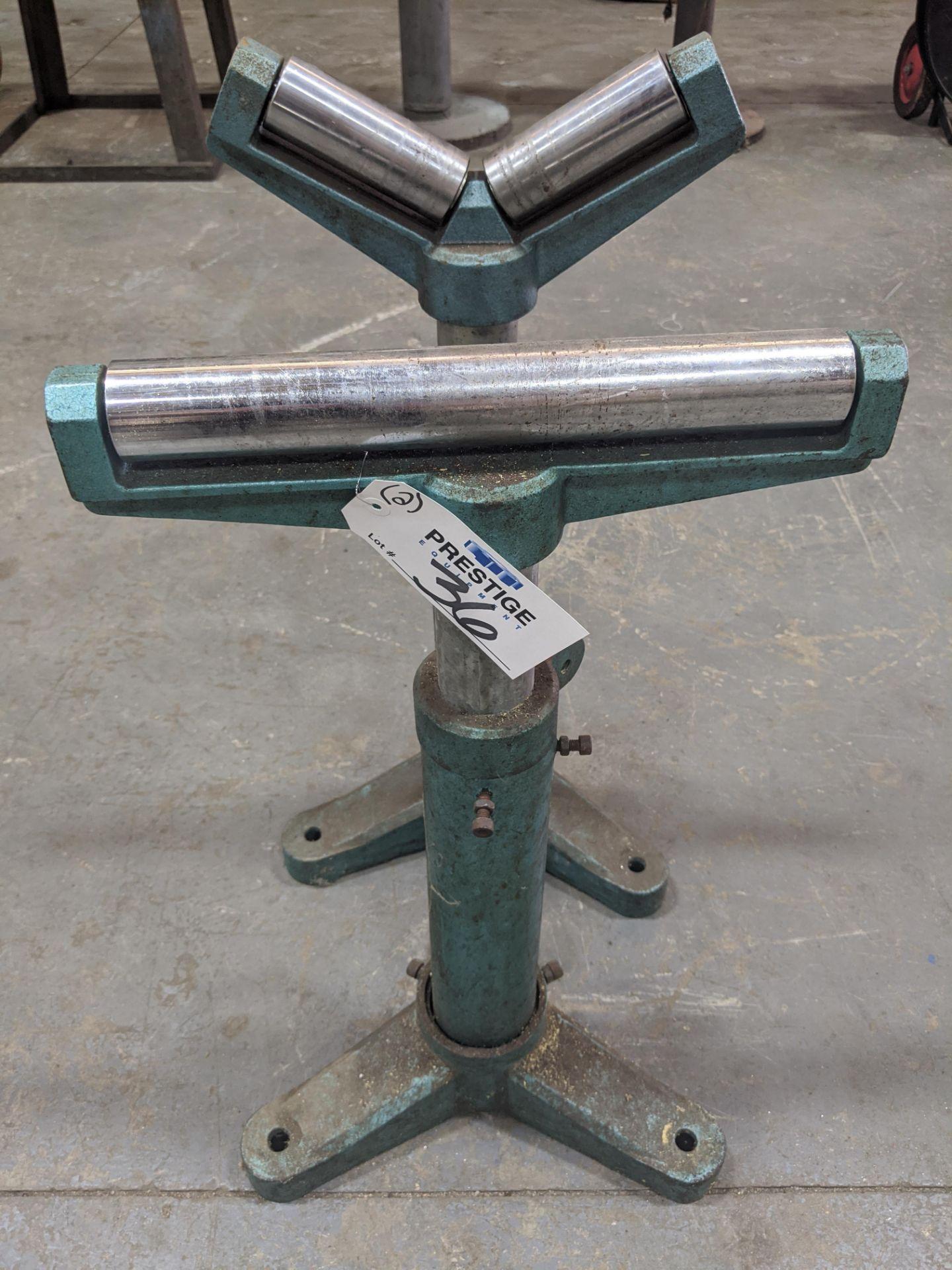 Lot 36 - Adjustable Material Roller Stands