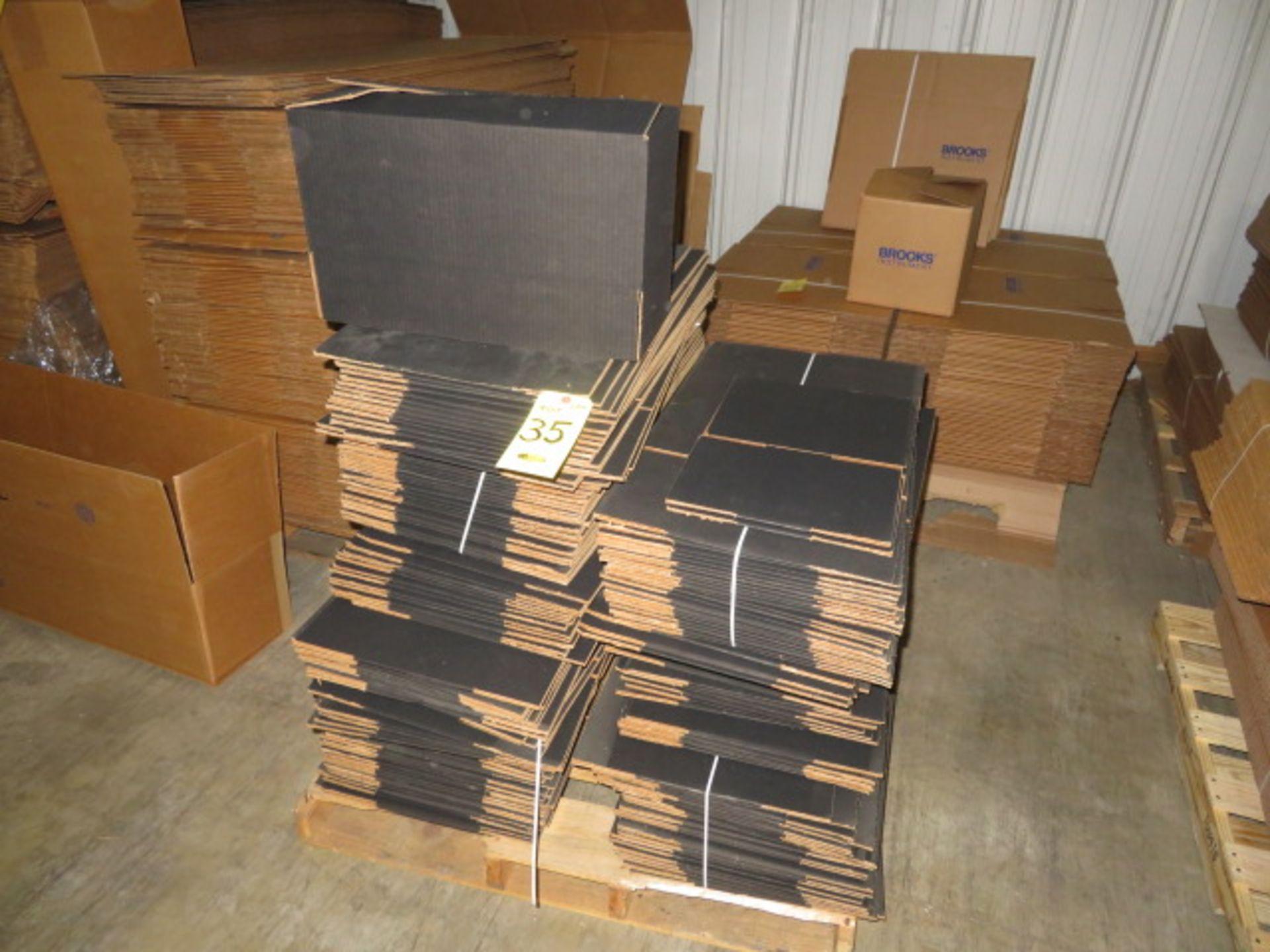 ( 160+) 20 X 8-1/2 X 8-1/4 IN BLACK K/D CORRUGATED BOXES