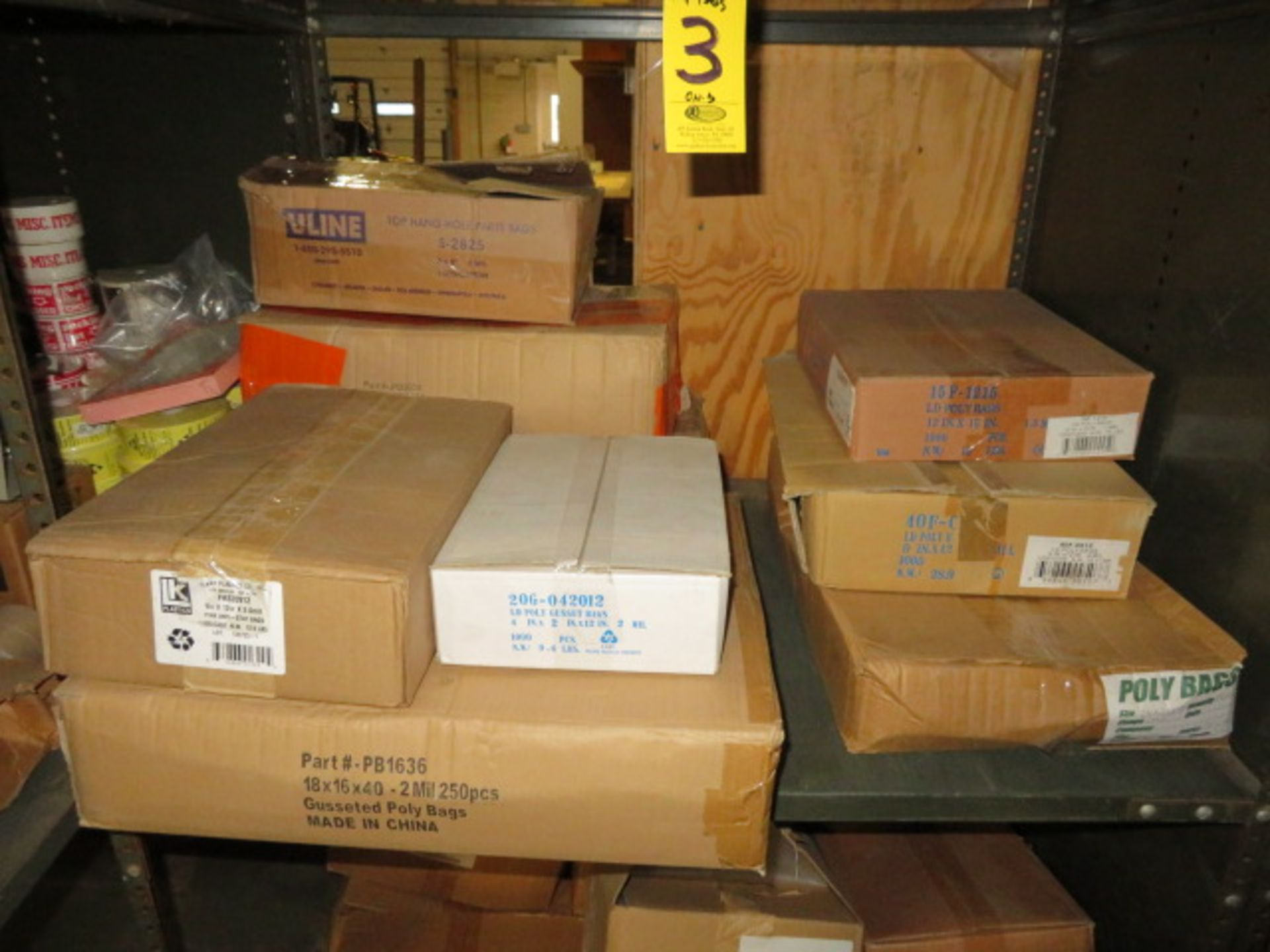(37) BOXES OF ASST PLASTIC BAGS & 1 BOX OF POLY TUBING - Image 3 of 4