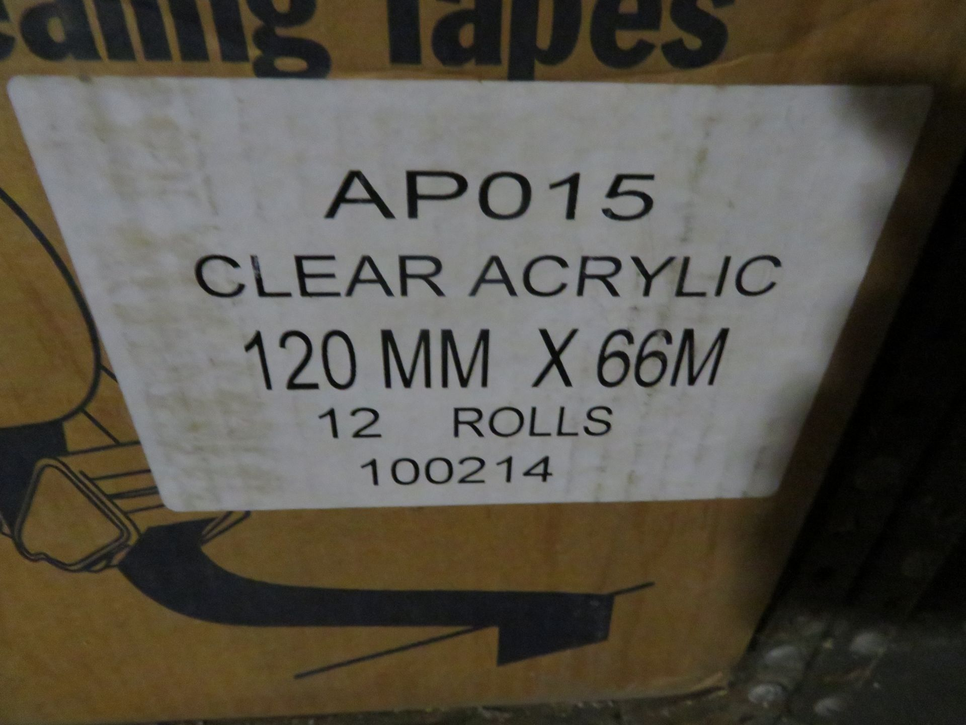 (3) BOXES CLEAR 5 IN POCKET, ORANGE & 4.75 CLEAR CARTON SEALING TAPE - Image 4 of 4