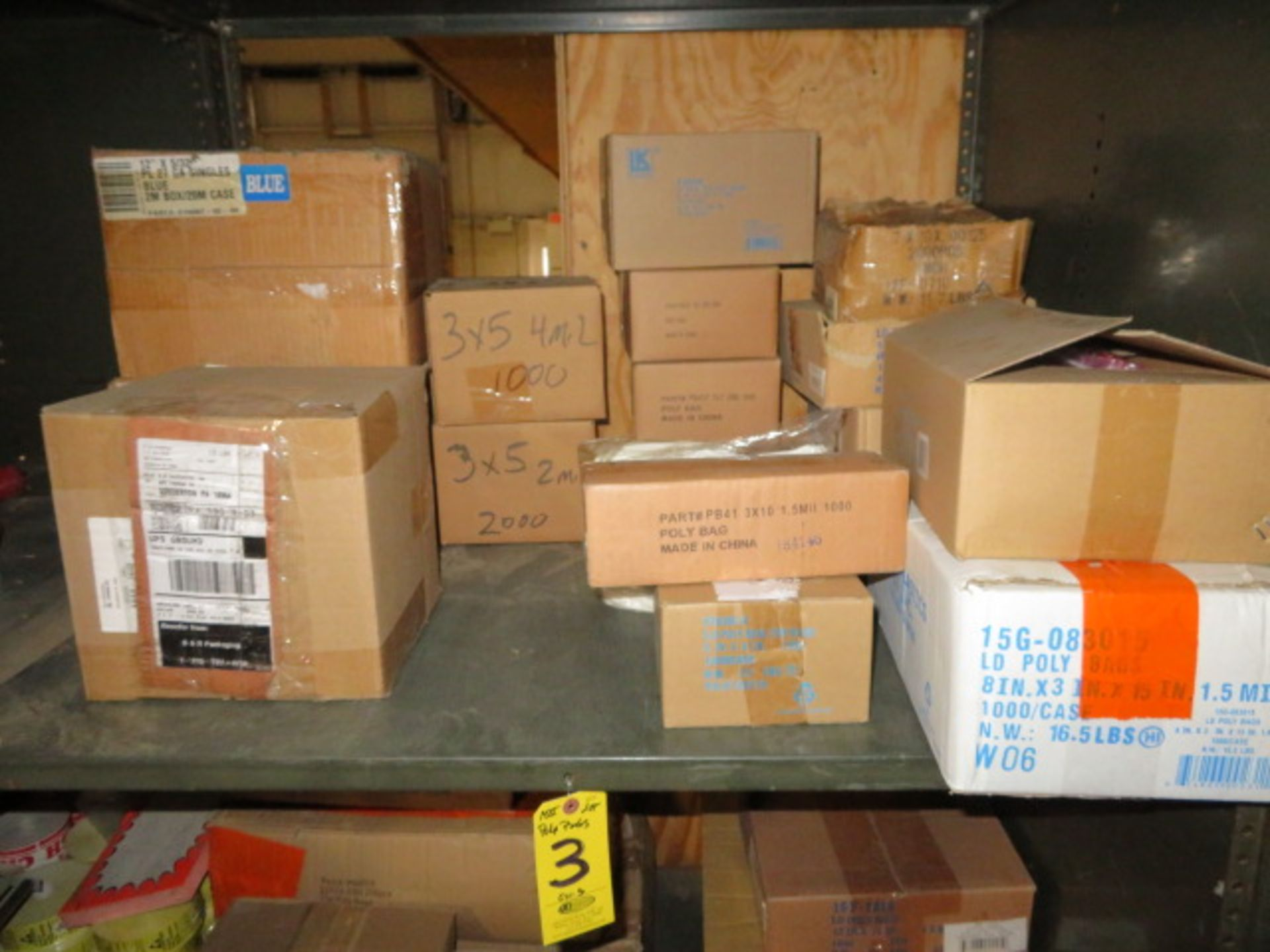(37) BOXES OF ASST PLASTIC BAGS & 1 BOX OF POLY TUBING - Image 2 of 4
